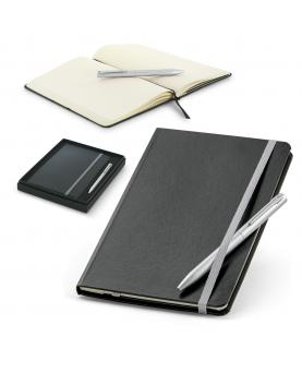 MORAES. Set de bolígrafo y bloc de notas A5 - Imagen 1