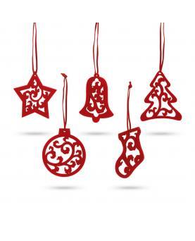 JUBANY. Set de 5 adornos de Navidad - Imagen 1