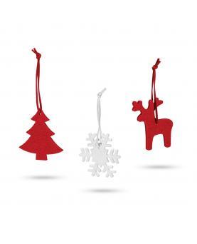 ZERMATT. Set de 3 adornos de Navidad - Imagen 1