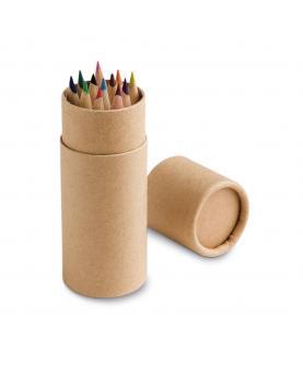 CYLINDER. Caja con 12 lápices de color - Imagen 1