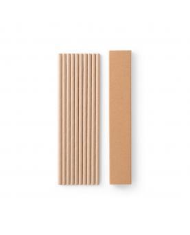 LAMONE. Juego de 10 pajitas de papel kraft - Imagen 3
