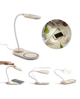 OZZEL. Lámpara de mesa con cargador inalámbrico (Rápido, 10W) - Imagen 1