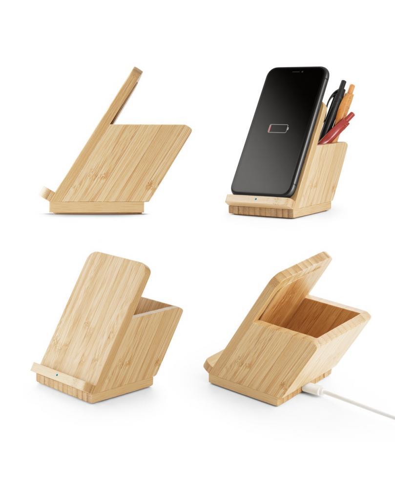 LEAVITT. Cargador de bambú inalámbrico - Imagen 1