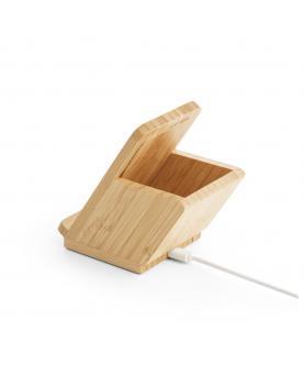 LEAVITT. Cargador de bambú inalámbrico - Imagen 4
