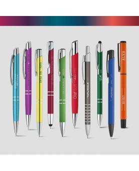 SIGNATURE WRITING SHOWCASE. Muestrario con 20 bolígrafos metálicos - Imagen 2