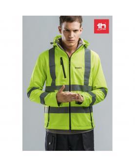 THC ZAGREB WORK. Chaqueta de alta visibilidad para hombre, con capucha removible - Imagen 2